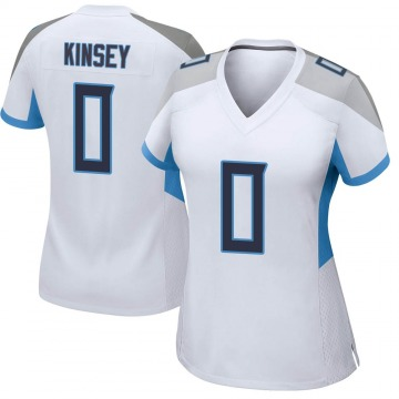 Women's Nike Tennessee Titans Mason Kinsey White Jersey - Game