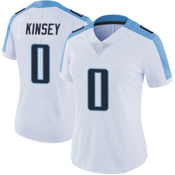 Women's Nike Tennessee Titans Mason Kinsey White Vapor Untouchable Jersey - Limited