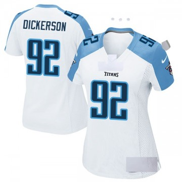 Women's Nike Tennessee Titans Matt Dickerson White Jersey - Game