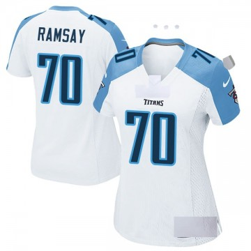 Women's Nike Tennessee Titans Mike Ramsay White Jersey - Game