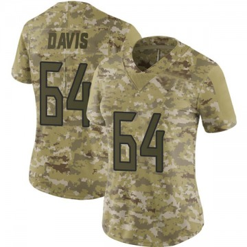 Women's Nike Tennessee Titans Nate Davis Camo 2018 Salute to Service Jersey - Limited