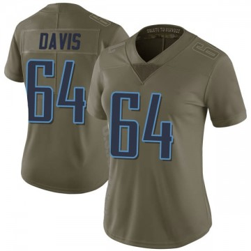 Women's Nike Tennessee Titans Nate Davis Green 2017 Salute to Service Jersey - Limited