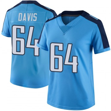 Women's Nike Tennessee Titans Nate Davis Light Blue Color Rush Jersey - Limited