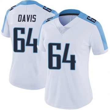 Women's Nike Tennessee Titans Nate Davis White Vapor Untouchable Jersey - Limited