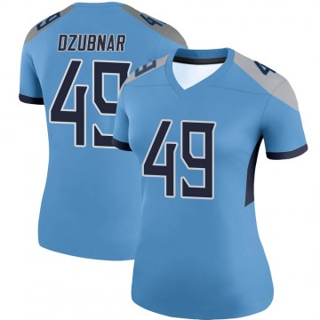Women's Nike Tennessee Titans Nick Dzubnar Light Blue Jersey - Legend