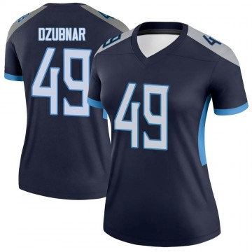 Women's Nike Tennessee Titans Nick Dzubnar Navy Jersey - Legend