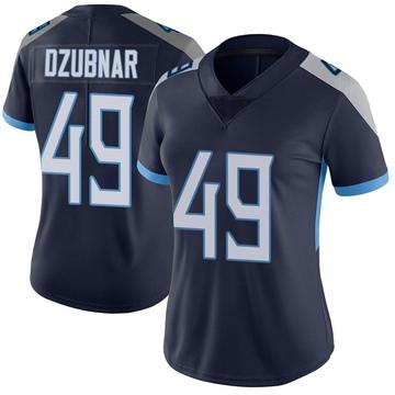 Women's Nike Tennessee Titans Nick Dzubnar Navy Vapor Untouchable Jersey - Limited