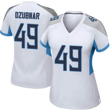 Women's Nike Tennessee Titans Nick Dzubnar White Jersey - Game