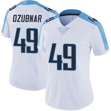 Women's Nike Tennessee Titans Nick Dzubnar White Vapor Untouchable Jersey - Limited