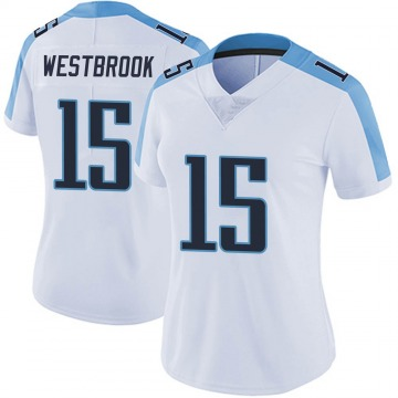Women's Nike Tennessee Titans Nick Westbrook White Vapor Untouchable Jersey - Limited