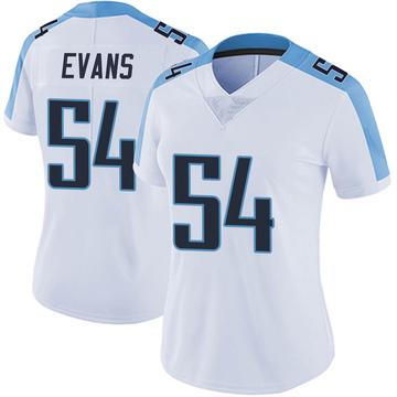 Women's Nike Tennessee Titans Rashaan Evans White Vapor Untouchable Jersey - Limited