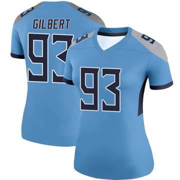 Women's Nike Tennessee Titans Reggie Gilbert Light Blue Jersey - Legend