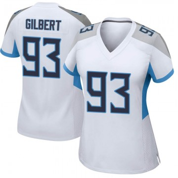 Women's Nike Tennessee Titans Reggie Gilbert White Jersey - Game