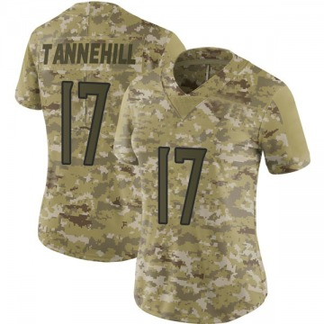 Women's Nike Tennessee Titans Ryan Tannehill Camo 2018 Salute to Service Jersey - Limited