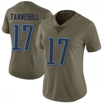 Women's Nike Tennessee Titans Ryan Tannehill Green 2017 Salute to Service Jersey - Limited