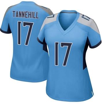 Women's Nike Tennessee Titans Ryan Tannehill Light Blue Jersey - Game