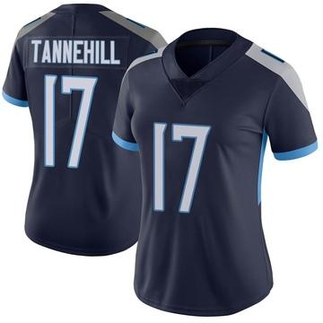 Women's Nike Tennessee Titans Ryan Tannehill Navy Vapor Untouchable Jersey - Limited