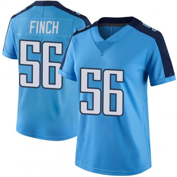 Women's Nike Tennessee Titans Sharif Finch Light Blue Color Rush Jersey - Limited