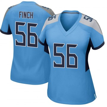 Women's Nike Tennessee Titans Sharif Finch Light Blue Team Color Jersey - Game