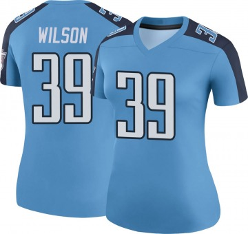 Women's Nike Tennessee Titans Shaun Wilson Light Blue Color Rush Jersey - Legend