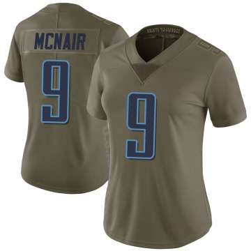 Women's Nike Tennessee Titans Steve McNair Green 2017 Salute to Service Jersey - Limited
