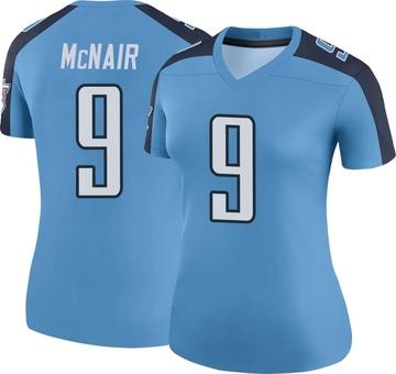 Women's Nike Tennessee Titans Steve McNair Light Blue Color Rush Jersey - Legend