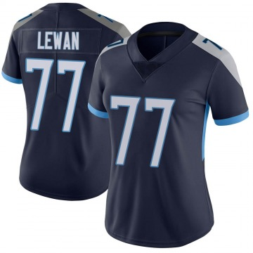 Women's Nike Tennessee Titans Taylor Lewan Navy Vapor Untouchable Jersey - Limited