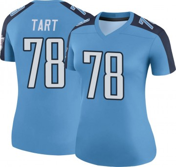 Women's Nike Tennessee Titans Teair Tart Light Blue Color Rush Jersey - Legend