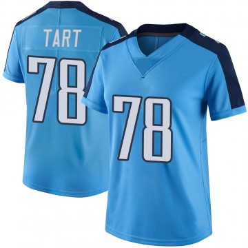 Women's Nike Tennessee Titans Teair Tart Light Blue Color Rush Jersey - Limited