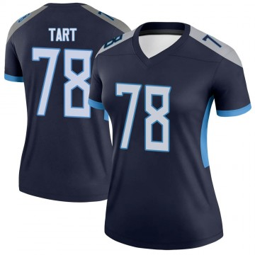 Women's Nike Tennessee Titans Teair Tart Navy Jersey - Legend