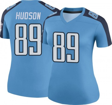 Women's Nike Tennessee Titans Tommy Hudson Light Blue Color Rush Jersey - Legend