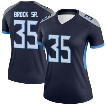 Women's Nike Tennessee Titans Tramaine Brock Navy Jersey - Legend