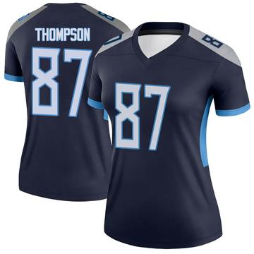 Women's Nike Tennessee Titans Trevion Thompson Navy Jersey - Legend