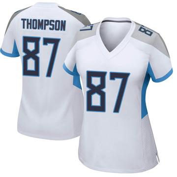 Women's Nike Tennessee Titans Trevion Thompson White Jersey - Game