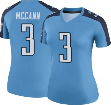 Women's Nike Tennessee Titans Tucker McCann Light Blue Color Rush Jersey - Legend