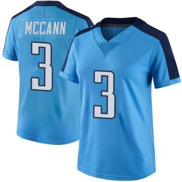 Women's Nike Tennessee Titans Tucker McCann Light Blue Color Rush Jersey - Limited