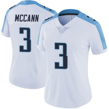 Women's Nike Tennessee Titans Tucker McCann White Vapor Untouchable Jersey - Limited