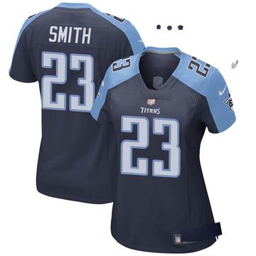 Women's Nike Tennessee Titans Tye Smith Navy Blue Alternate Jersey - Game