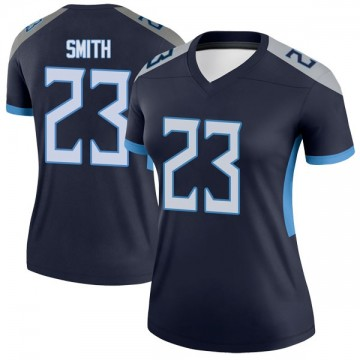Women's Nike Tennessee Titans Tye Smith Navy Jersey - Legend