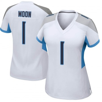 Women's Nike Tennessee Titans Warren Moon White Jersey - Game