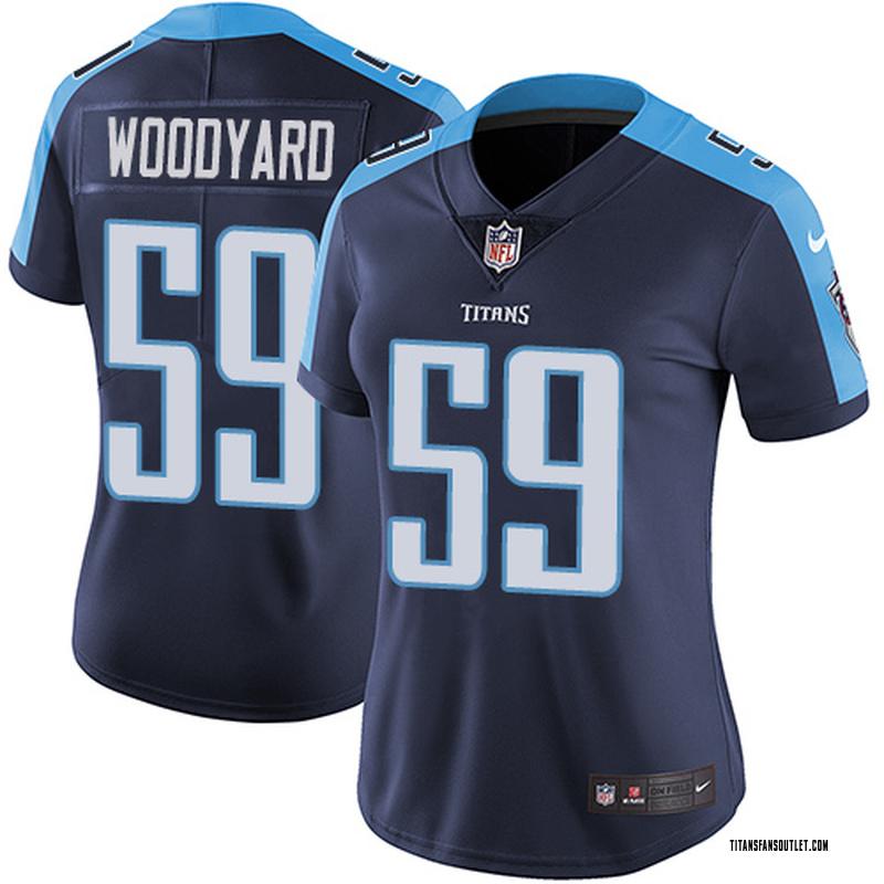 best service b6bea 80abb Women's Nike Tennessee Titans Wesley Woodyard Navy Blue Alternate Jersey -  Limited