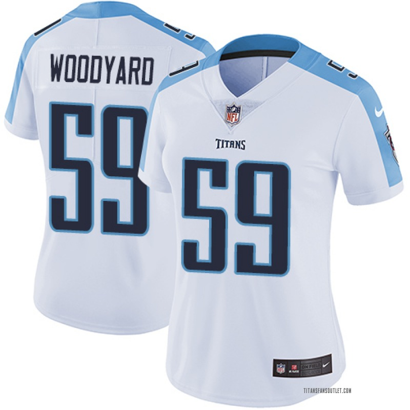 reputable site 6afa7 ee3e5 Women's Nike Tennessee Titans Wesley Woodyard White Jersey - Limited