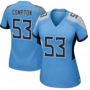 Women's Nike Tennessee Titans Will Compton Light Blue Jersey - Game