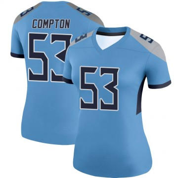 Women's Nike Tennessee Titans Will Compton Light Blue Jersey - Legend