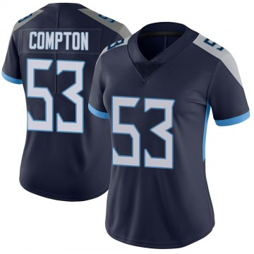 Women's Nike Tennessee Titans Will Compton Navy Vapor Untouchable Jersey - Limited