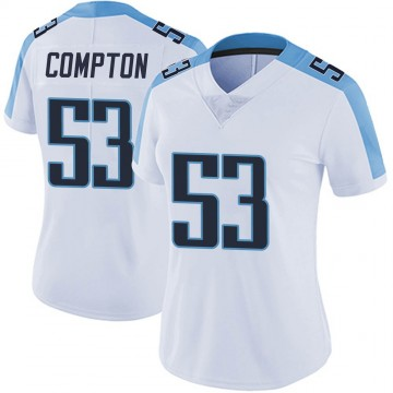 Women's Nike Tennessee Titans Will Compton White Vapor Untouchable Jersey - Limited