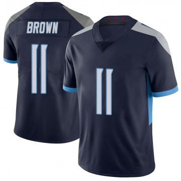 Youth Nike Tennessee Titans A.J. Brown Brown 100th Vapor Untouchable Navy Jersey - Limited