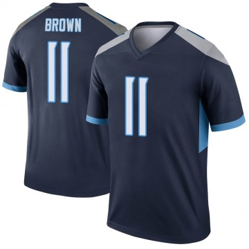 Youth Nike Tennessee Titans A.J. Brown Brown Navy Jersey - Legend