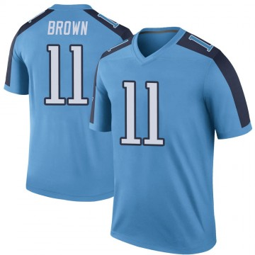 Youth Nike Tennessee Titans A.J. Brown Light Blue Color Rush Jersey - Legend