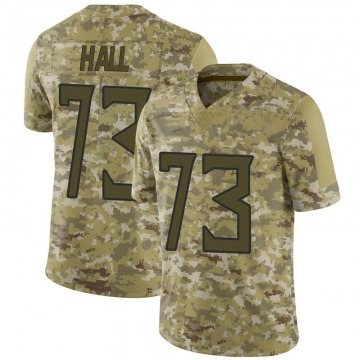 Youth Nike Tennessee Titans A.T. Hall Camo 2018 Salute to Service Jersey - Limited